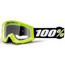 Детские мото очки 100% STRATA MINI Goggle Yellow - Clear Lens, Clear Lens