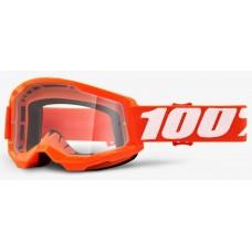 Детские мото очки 100% STRATA 2 Youth Goggle Orange - Clear Lens, Clear Lens