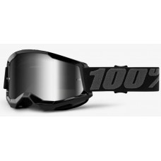Детские мото очки 100% STRATA II Youth Goggle Black - Mirror Silver Lens, Mirror Lens