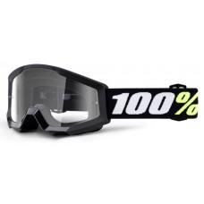 Детские мото очки 100% STRATA MINI Goggle Black - Clear Lens, Clear Lens