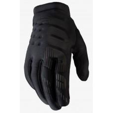 Детские зимние мото перчатки Ride 100% BRISKER Cold Weather [Black], YL (7)