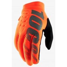 Детские зимние мото перчатки Ride 100% BRISKER Cold Weather [Fluo Orange], YXL (8)